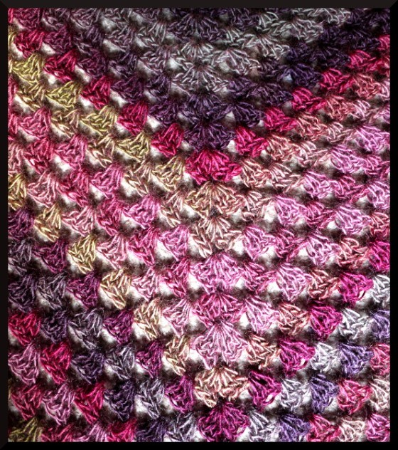 Main view of the shawl