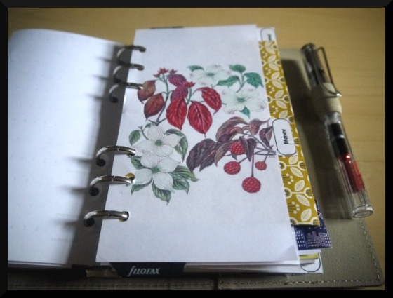 filofax divider pages