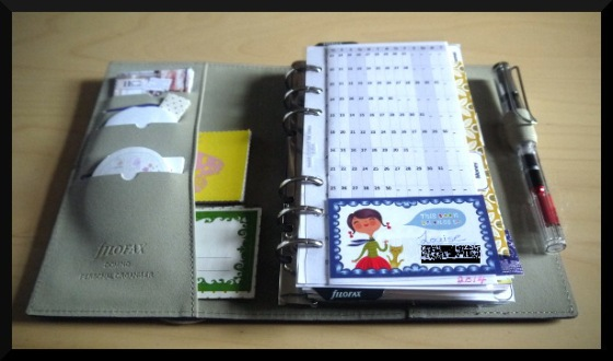 filofax inside first page