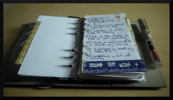 filofax page entry diary